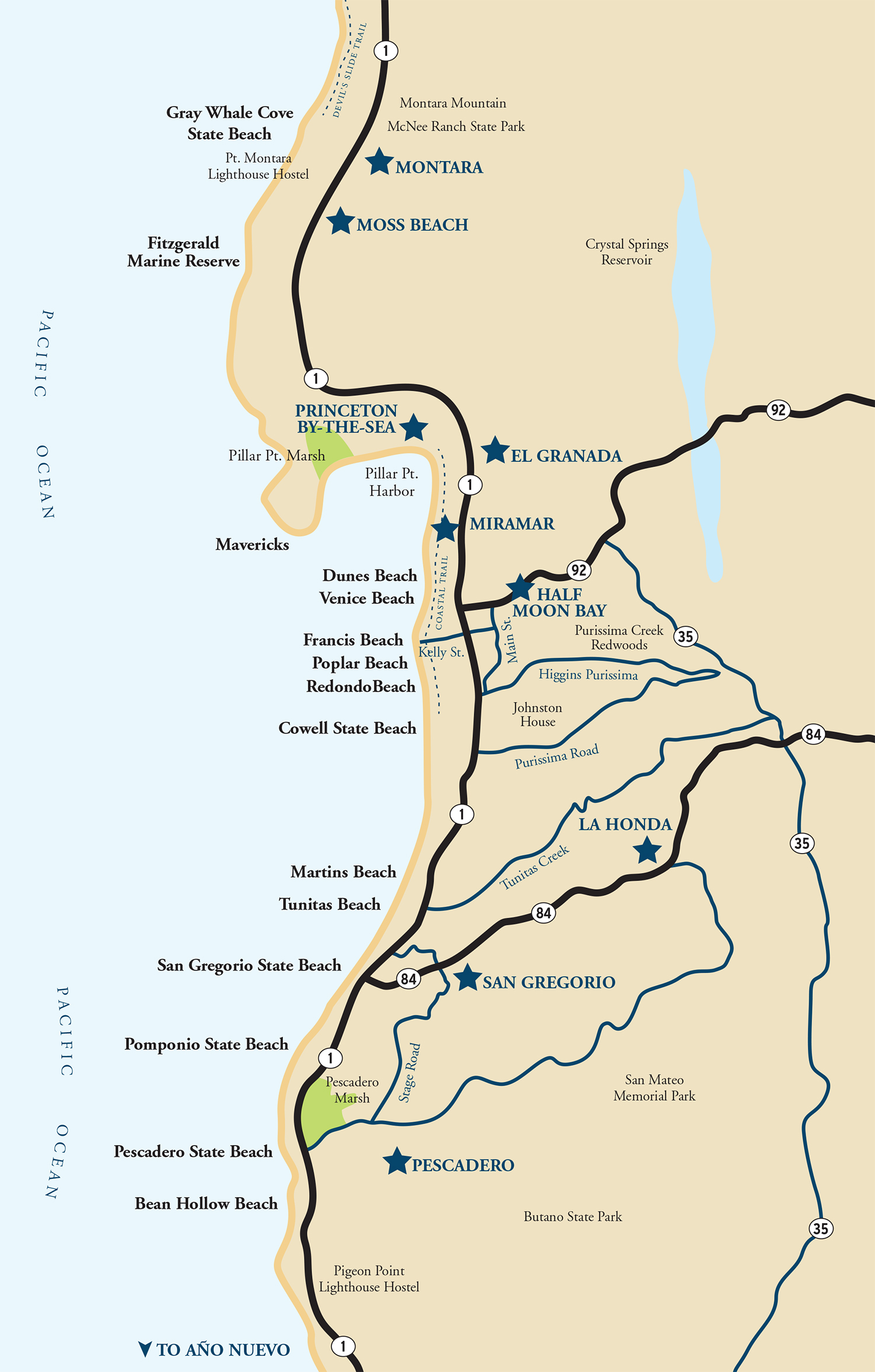 Map of the Half Moon Bay Coastside | Visit Half Moon Bay