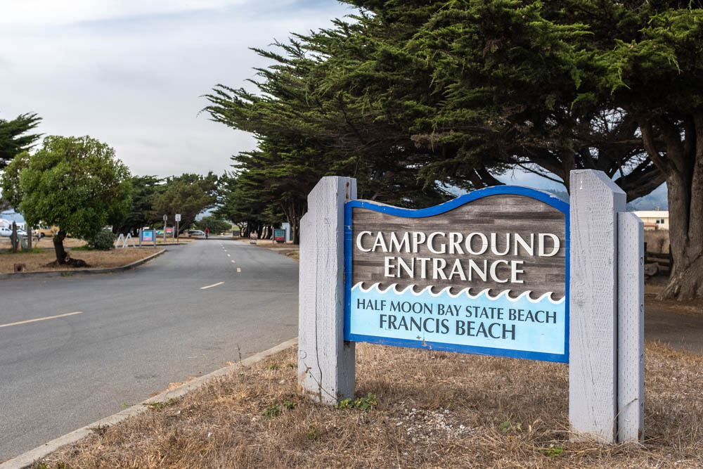 Half Moon Bay Beach Campground Entrance
