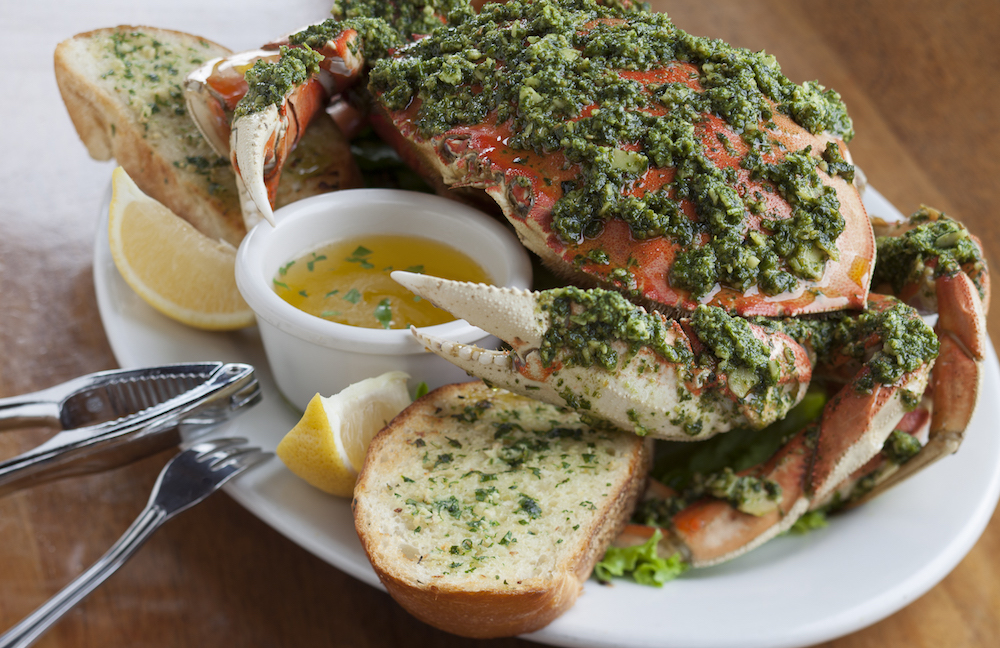 Whole Crab with Pesto