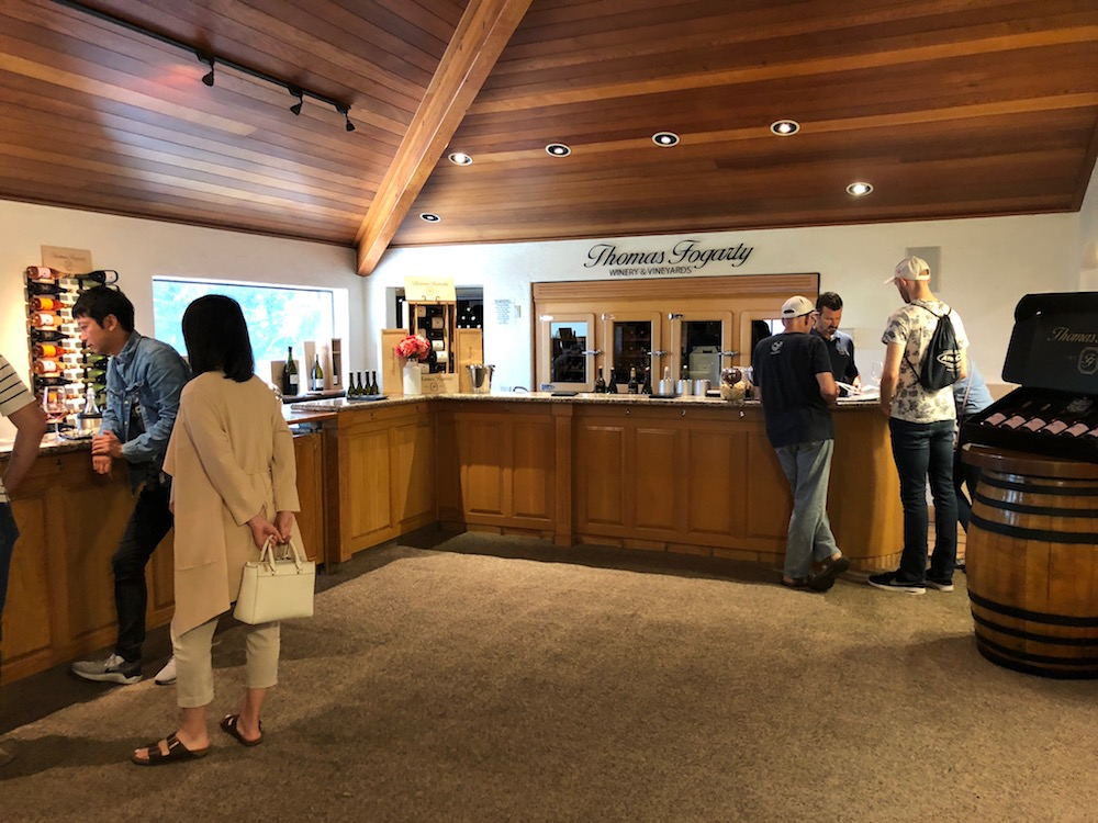 The tasting room at Thomas Fogarty Winery