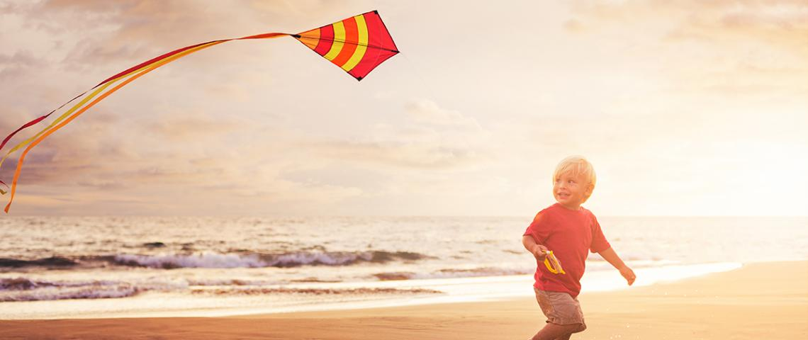 Child with kite