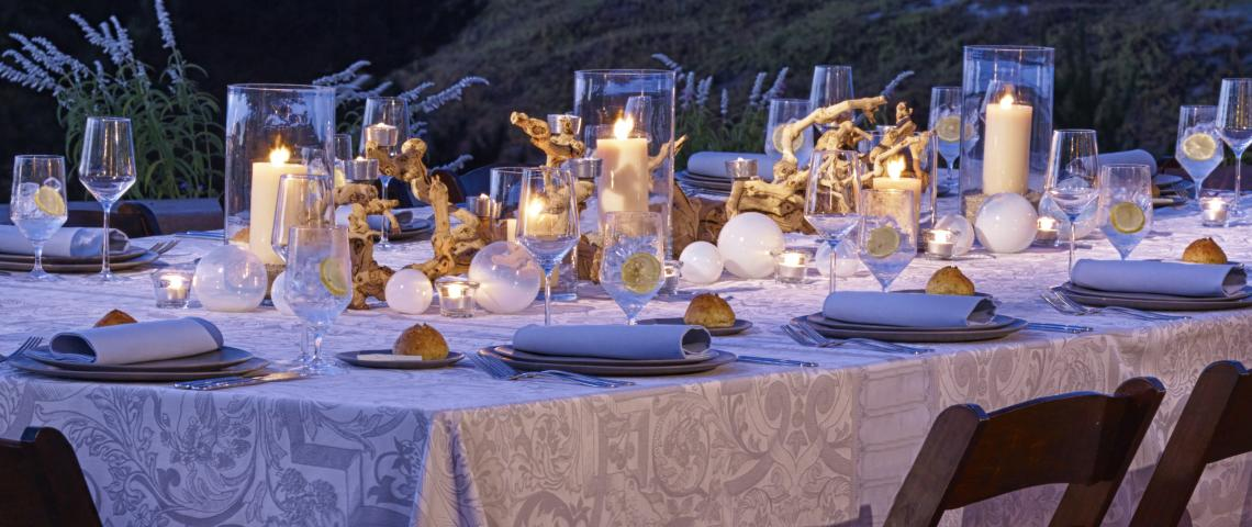 table setting outdoors