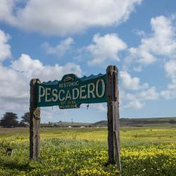 Welcome to Pescadero Sign
