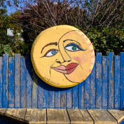 Sun and Moon art onn Mill Street in HMB
