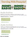 Traveling with Francoise Money Radio