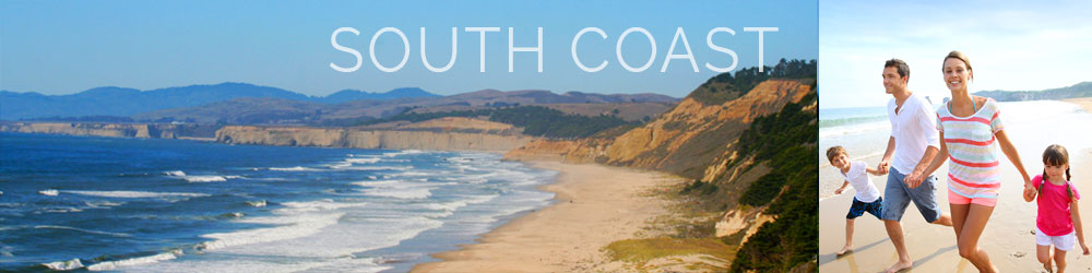 South Coast of San Mateo County where you will find family friendly beaches and laid back beach towns